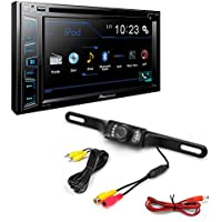 Pioneer AVH-290BT Double DIN Bluetooth In-Dash DVD/CD/AM/FM Car Stereo w/ 6.2 WVGA Display + Night Vision Parking Reversing License Plate Car Rear View Camera