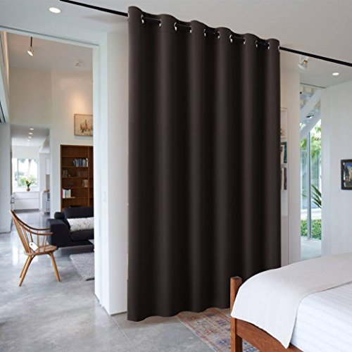 Blind Room Divider - RYB HOME Blackout Vertical Blinds for Room Space Versatile Room Divider Reduce Sunlight Protect Furniture Light Block for Shift Worker/Photo Studio, 120 x 96 in, Toffee Brown, 1 Panel