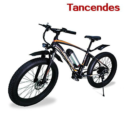 "Tancendes Electric Bike 26"" MTB Lithium Battery 36V 350W Brushless Motor with 3.0"" Fat Tire Image"