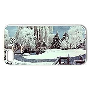 Winter Garden - Case Cover for iPhone 5 and 5S (Winter Series, Watercolor style, White)