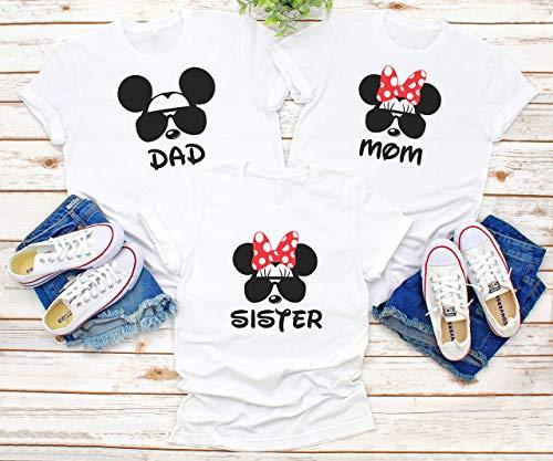 Disney family matching custom shirts, Family vacation Disney shirts,Mickey Minnie mouse Personalized shirt, Personalized Disney Shirts for Family -