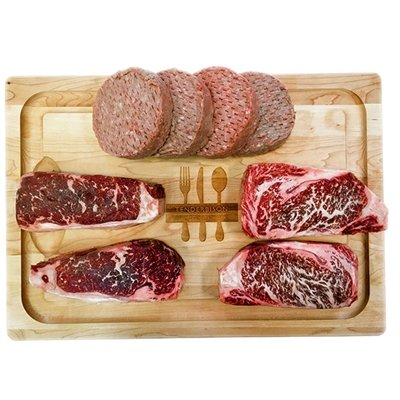 Wagyu American Style Kobe Beef Steaks And Grilling Combo