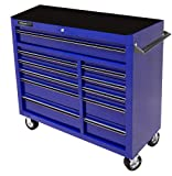 Homak 41-Inch Professional Series 11-Drawer Rolling Cabinet, Blue, BL04011410