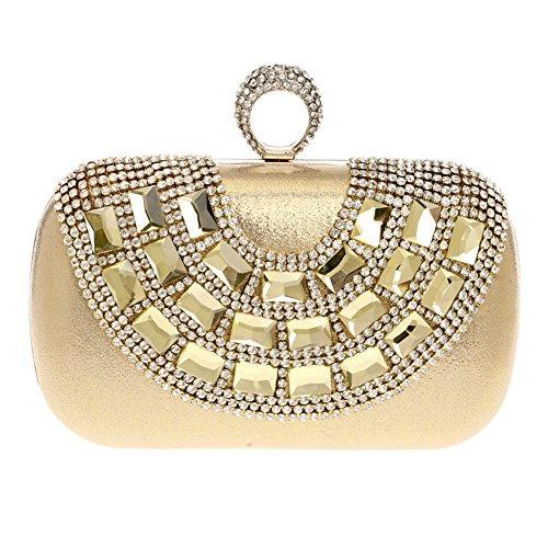 Women's Fashion 2 1 Bag Dinner Joker QEQE Luxury Diamond Banquet Clutch Lady Color Luxury Bag Evening qFa68awd
