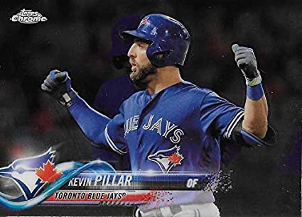 4d367453d28 Amazon.com  Baseball MLB 2018 Topps Chrome  11 Kevin Pillar Blue ...