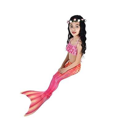 Bikini de Playa púrpura de niña pequeña, Natación Cola de ...
