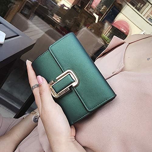 LanDream versión Coreana de la Cartera de la Mujer Corto párrafo Simple Mini Tri-Fold Retro Lock Hebilla Wild Cartera Pack Monedero (Color: Negro) Mujer Monedero: Amazon.es: Hogar