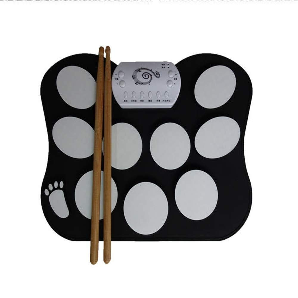 XINGXIANYIGOU Electronic Percussion pad, Drum Silicone Folding Portable Multi-Function Children Practice Electronic Drum for Beginners
