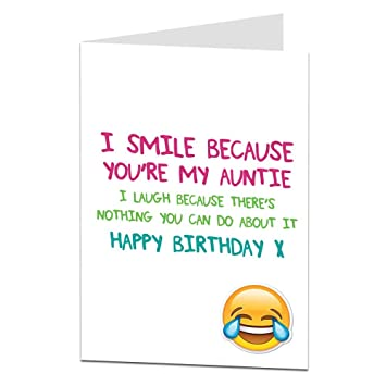 Funny Happy Birthday Card Auntie Aunty Perfect For 21st 30th 40th