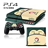 Ci-Yu-Online VINYL SKIN [PS4] Pokemon #4 Snorlax Whole Body VINYL SKIN STICKER DECAL COVER for PS4 Playstation 4 System Console and Controllers