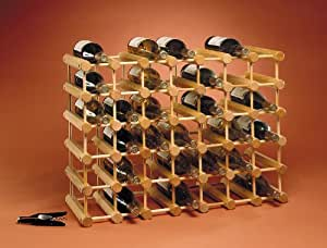 J.K. Adams Ash Wood 40-Bottle Wine Rack, Natural