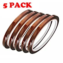 (5 Pack) - 3MM High Temperature Heat Resistant Heat Tape