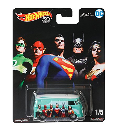 Hot Coolest Toy Car - 2018 Hot Wheels Pop Culture Real Riders DC Justice League - Volkswagen T1 Panel