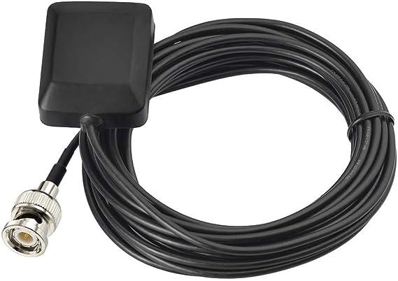 Eightwood GPS Antena Activa Externa con Conector BNC Extensión de 3 m para Garmin GPSmap 545 545S 550 550S 555 555S 520 520S 205