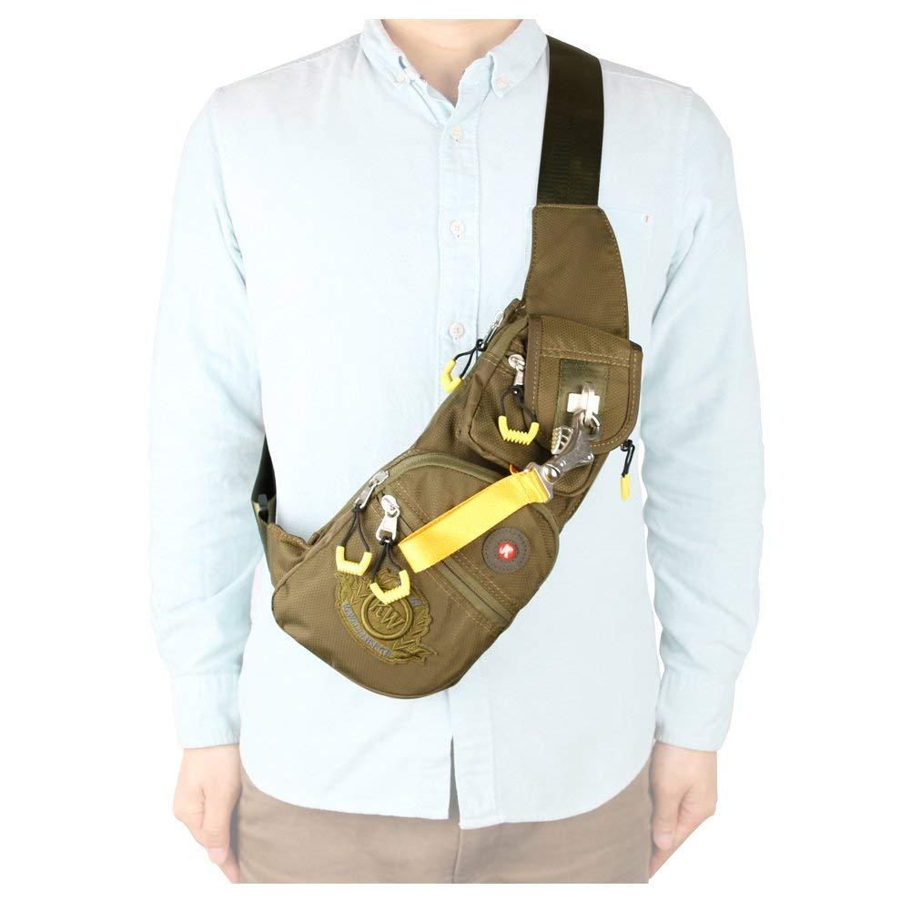 Kawei Knight Nylon Sling Bag Messenger Casual Backpack
