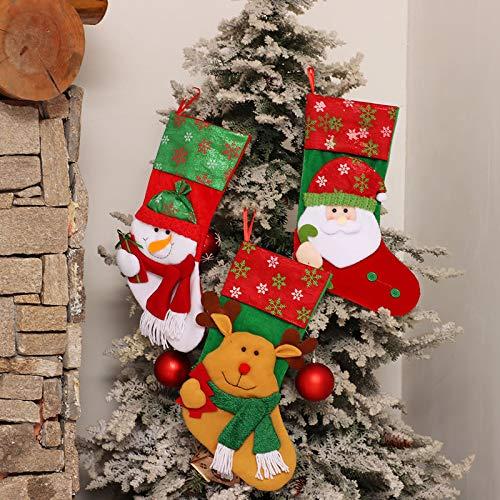 Lavany Christmas Stockings,Socks Candy Bag Christmas Tree Ornaments Xmas Hang Decor (C◆)