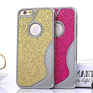 ZL Small Pretty Waist Glitter Back Cover Case for iPhone 6(Assorted Colors) , Blue