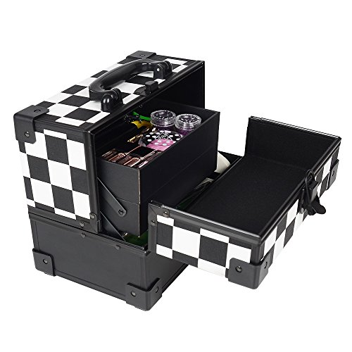 greenmall-professional-black-animal-print-2-compartment-beauty-box-cosmetics-make-up-case-nail-cosme