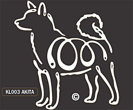 - Akita dog Window stickers vinyl decal