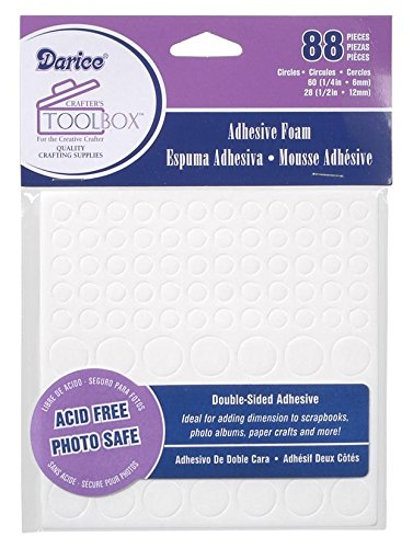 - Double Sided Foam Sticky Circles - 88 Pieces