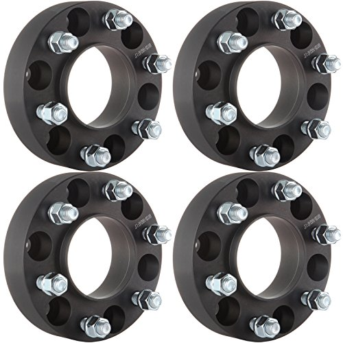 "ECCPP Hub Centric Wheel Spacers 4X Black 1.5"" 6x135mm 6 Lugs 14x2 Adapters For Ford F-150 Raptor Expedition"
