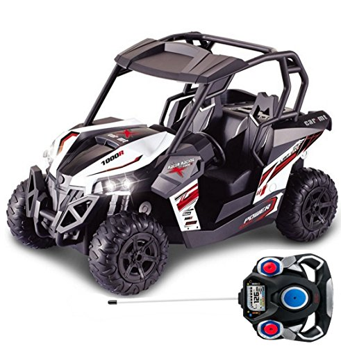 Haktoys HAK139 1:12 Scale RC Racing Cross Country Side-by-Side UTV Utility Vehicle with LED Lights | Great Gift Radio Control Rechargeable Car Toy for Kids, Boys, Girls, and ATV Enthusiasts Hobbyists