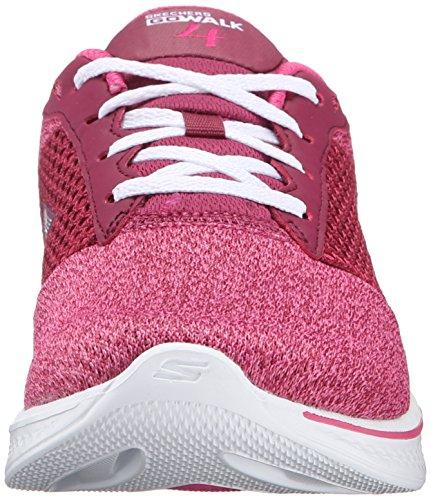 Skechers Performance Damen Go Walk 4 Exceed Schnür Sneaker Himbeere