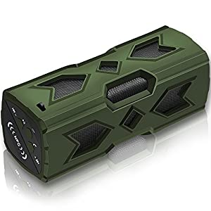SVPRO Wireless Portable Bluetooth Speaker Outdoor Sports Water Resistant Music Player Powerbank for Hike Climb Jogg Pool Party Beach Shower (B-Green)