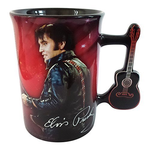 Elvis Presley Mug with Guitar Handle by Midsouth -