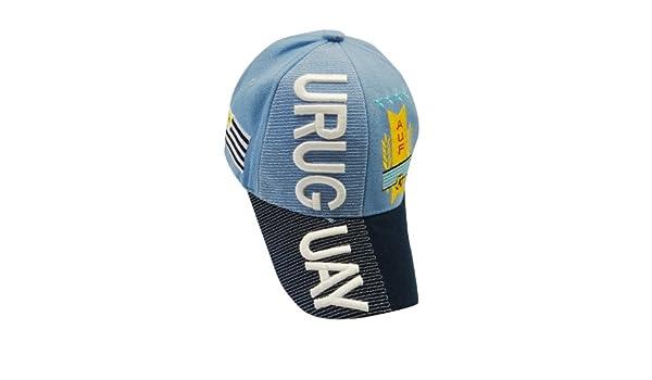 Uruguay Bandera de País con Relieve Sombrero Cap. Gran Calidad Adulto. Nuevo: Amazon.es: Ropa y accesorios