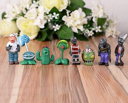 Astra Gourmet Plants vs Zombies Figure PVC Toys, 8 Piece Mini Display Toy Cake Toppers Cupcake Decorations Party Favors(Plants vs -