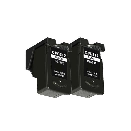 4 opinioni per LCL(TM) PG512 (2-Pack Nero) Cartucce d'inchiostro Rigenerate per Canon Pixma IP