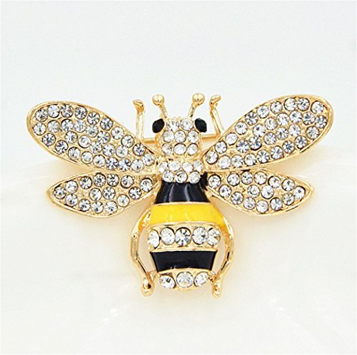 - Exquisite Fashion Elegant Yellow Bees Brooch Breastpin Corsage Jewelry Masquerade Theme Party Wedding Bridal Princess Queen Costume Accessories