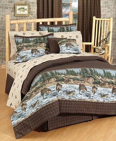 river fishing comforter set size queen