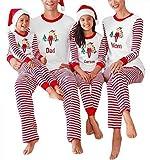 Best Christmas Family Pajamas - Cnlinkco Family Christmas Pajamas Holiday Striped Matching Sleepwear Review