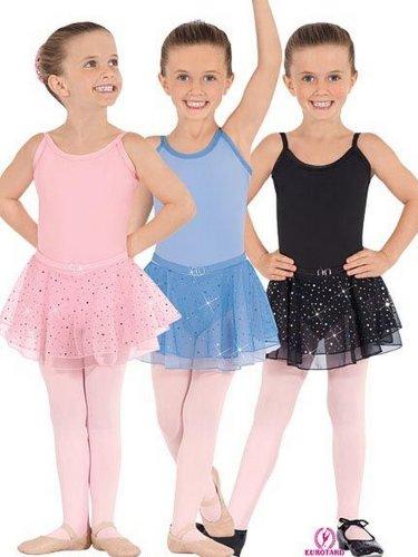 - Eurotard Child Cotton Lyrca Camisole Belt Dress #0205 - Blue/Small