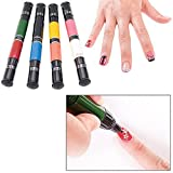 Pinky Picasso Nail Art Polish Beautifully Bold - 4 Pens With 8 Bold Traditional Colors