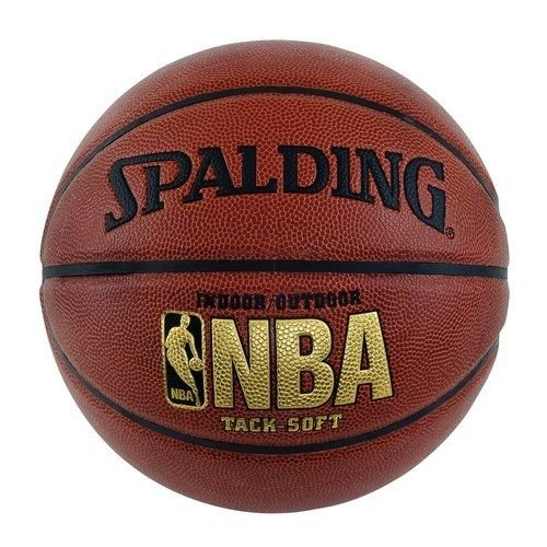 Spalding NBA Tack Soft Basketball, Brown, Official Size 7 (29.5'') by medium shop