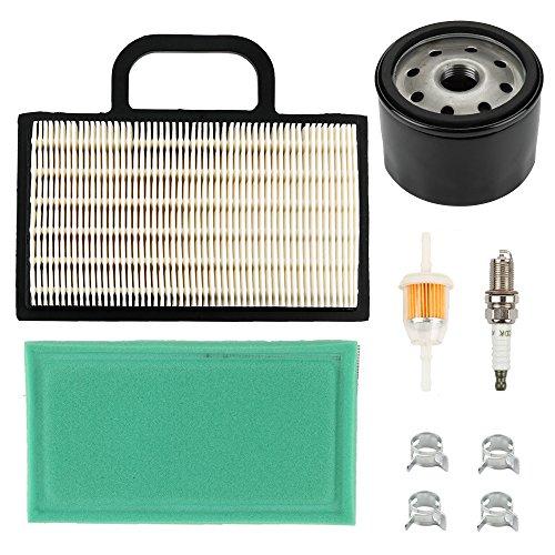 Harbot LA120 Air filter with Tune Up Maintenance Service Filter Kit for John Deere L120 L111 L118 LA130 LA140 LA150 LA135 LA145 D130 D140 GY21056 Lawn Mower Tractor