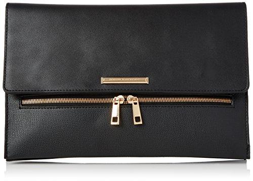 Dorothy Perkins Double Zip - Borse a tracolla Donna, Black, 30x20x4 cm (W x H L)