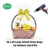 LazyMe 32x40 inch, Basket Cellophane Shrink