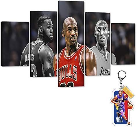 Kobe MJ Lebron Canvas Wall Art Sports Basketball Legend Poster Picture