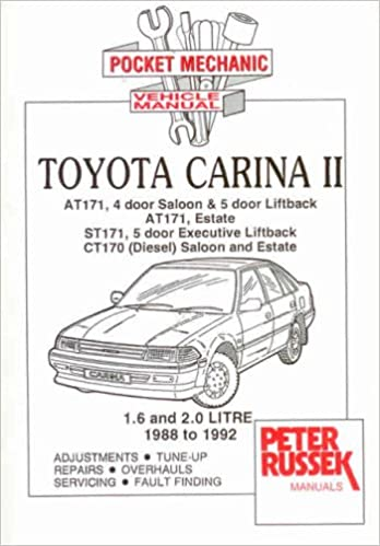 Pocket Mechanic for Toyota Carina II from 1990: Petrol and Diesel Models AT171, CT171: Amazon.es: Peter Russek: Libros en idiomas extranjeros