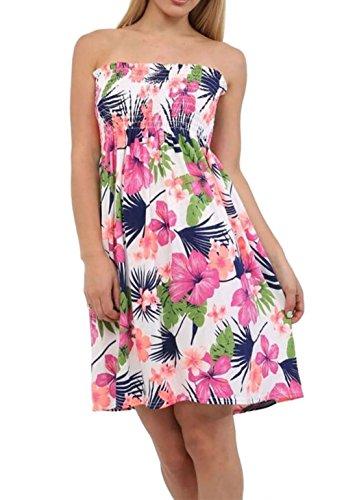 Femme Taille Unique Imprimé Manche Sans 21fashion Robe Floral Tropical qwn1IZXvxY