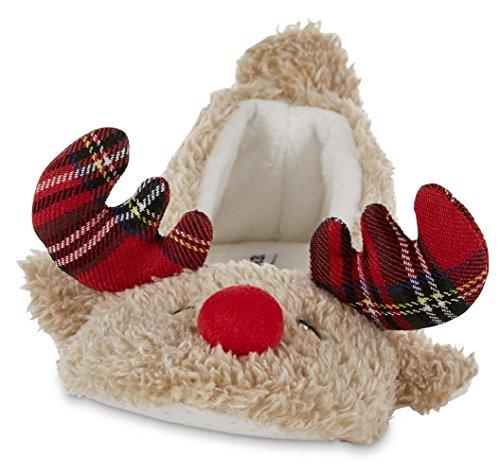 Joe Boxer Womens Christmas Reindeer Slippers Kimmy Brown nIexpAJRo