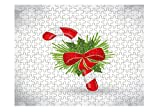 Chritsmas Decoration With Sweet Cane Bow Jigsaw Puzzle Print 252 Pieces
