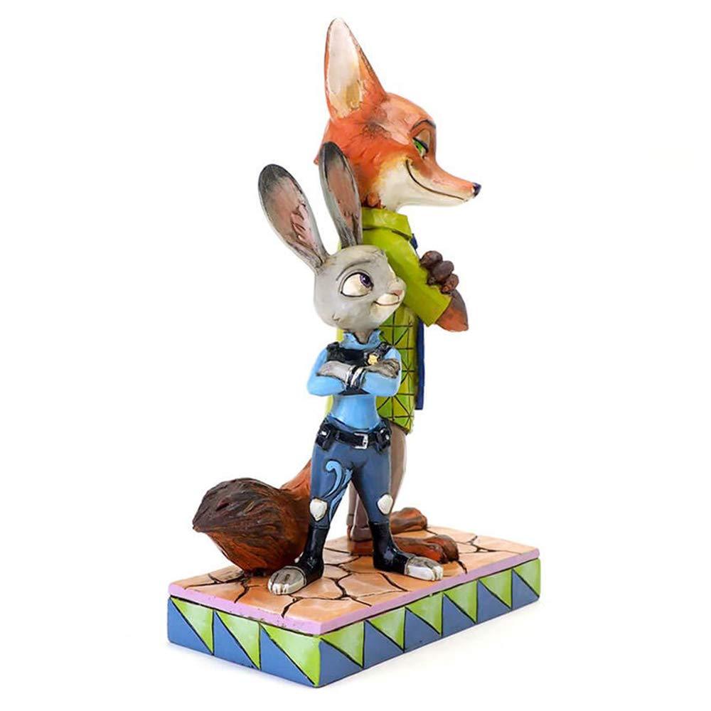 Multicolor 23.9 x 16.3 x 11.2 cm Disney Zootropolis Figurina de Judy y Nick Resina