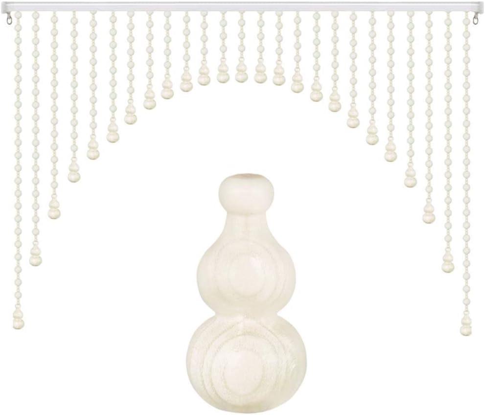 GDMING Arco Blanco Madera Cortinas De Hilos para Puertas Cortina De Cuentas Cortar Panel De La Ventana Tabique Cocina Habitación,Personalizable (Color : White, Size : 50strands-100x110CM): Amazon.es: Hogar