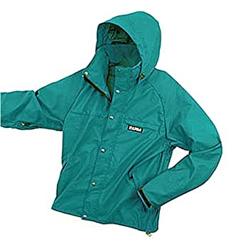 TAIGA Whirlwind - Men's Water-Repellent Hooded Jacket Windbreaker, Teal, MADE IN CANADA, Small, Teal
