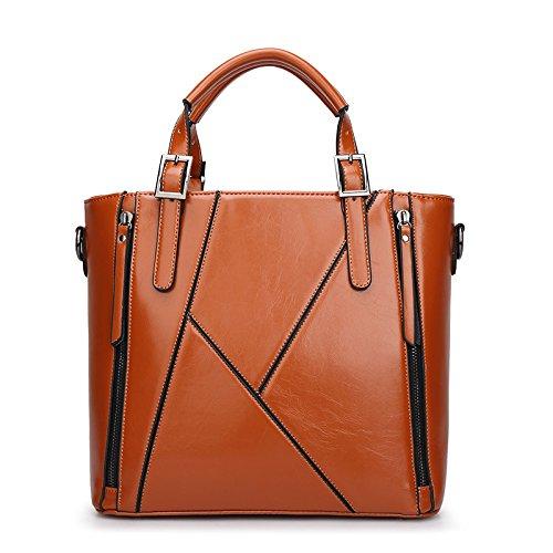 mefly L Europa y los Estados Unidos de moda nueva bolsa simple bolso de bandolera, Azul marino verde caqui